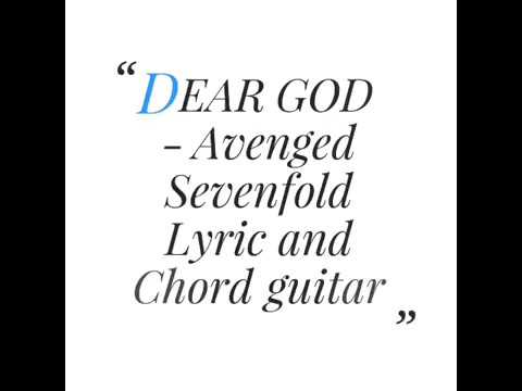 DEAR GOD - AVENGED SEVENFOLD Lyrics and Chord guitar