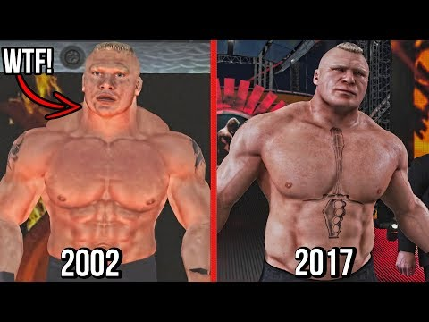 The Evolution Of Brock Lesnar In WWE Games ( WWE SmackDown! Shut Your Mouth To WWE 2K18 ) |