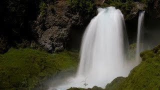 ♥♥ Relaxing 3-Hour Video of Large Waterfall