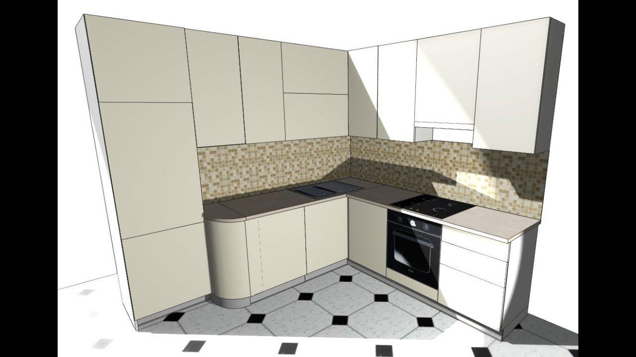 кухня угловая макет дизайн Pro100 Youtube