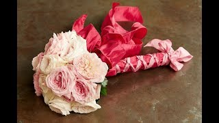 Ribbon Wrapped Bouquet with Bonus Bow Tutorial