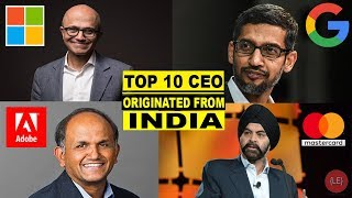Top 10 Indian Origin CEO's Who Are Ruling the World | Indian CEO