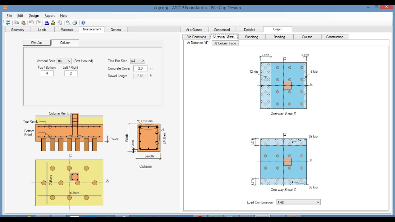 Foundation Design Software Spread Combined And Strap Footings