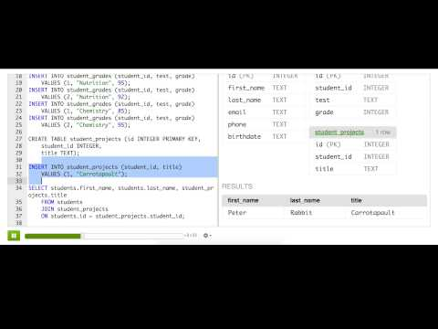 Joining related tables with left outer joins  (Video version)