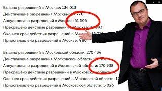 В Москве и области каждый месяц аннулируют 10000 лицензий. Яндекс такси. Ситимобил. X-Car.