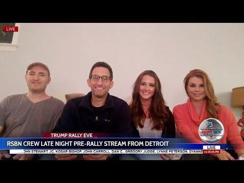 LIVE: RSBN Crew Late Night Pre-Trump Rally Stream from Detroit, MI 4/27/18