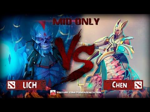 видео: lich vs chen [Битва героев mid only] dota 2