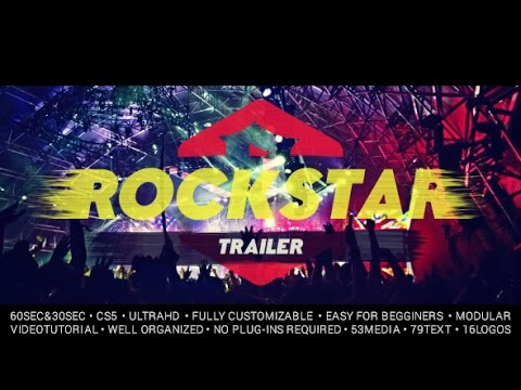 Movie Trailer Template After Effects Project + Royalty Free Epic Trailer Music
