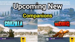 Upcoming New Companions in Pubg Mobile || Godzilla and Kong Companion in Pubg Mobile Telugu
