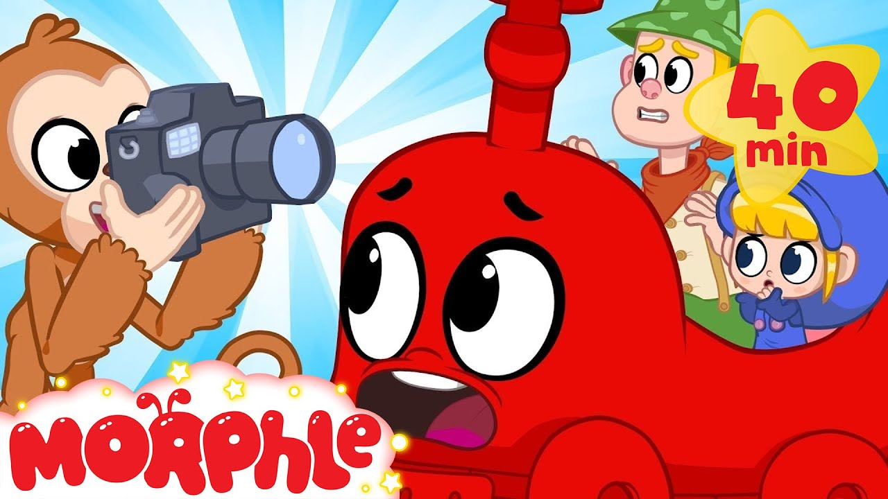Moprhle The TRAIN! - My Magic Pet Morphle | Cartoons For Kids | Morphle TV | Mila & Morphle