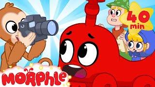 TREN Moprhle! - Çocuklar İçin Sihirli Hayvan Morphle | Çizgi film | benim Morphle TV | Mila & Morphle