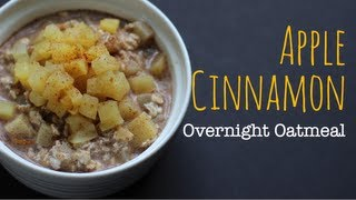 Vegan Apple Cinnamon Overnight Oatmeal