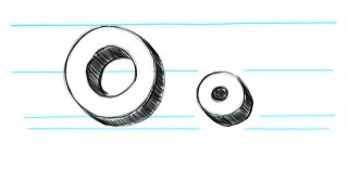 How to Draw 3D letters O - Uppercase O and Lowercase o in 90 Seconds