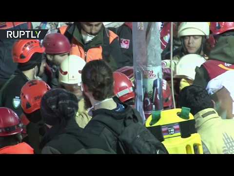 Rescue op ongoing: At least 12 people pulled after building collapse in Istanbul