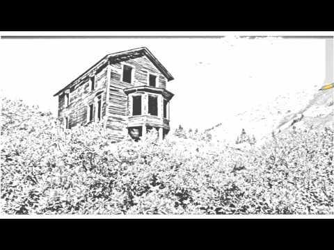 Auto Draw 2: Bay Window House, Animas Forks Ghost Town, Colorado