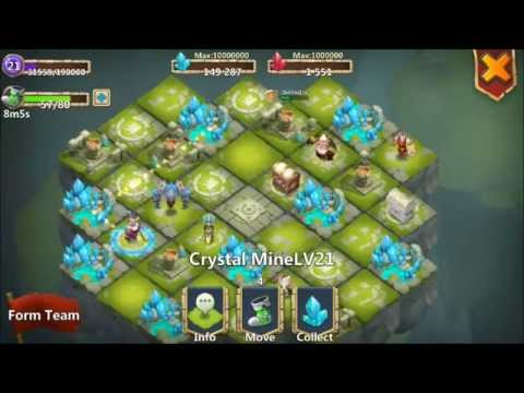 Castle Clash Lost Realm Level 21 Crystal Mines Plus Hero Alter