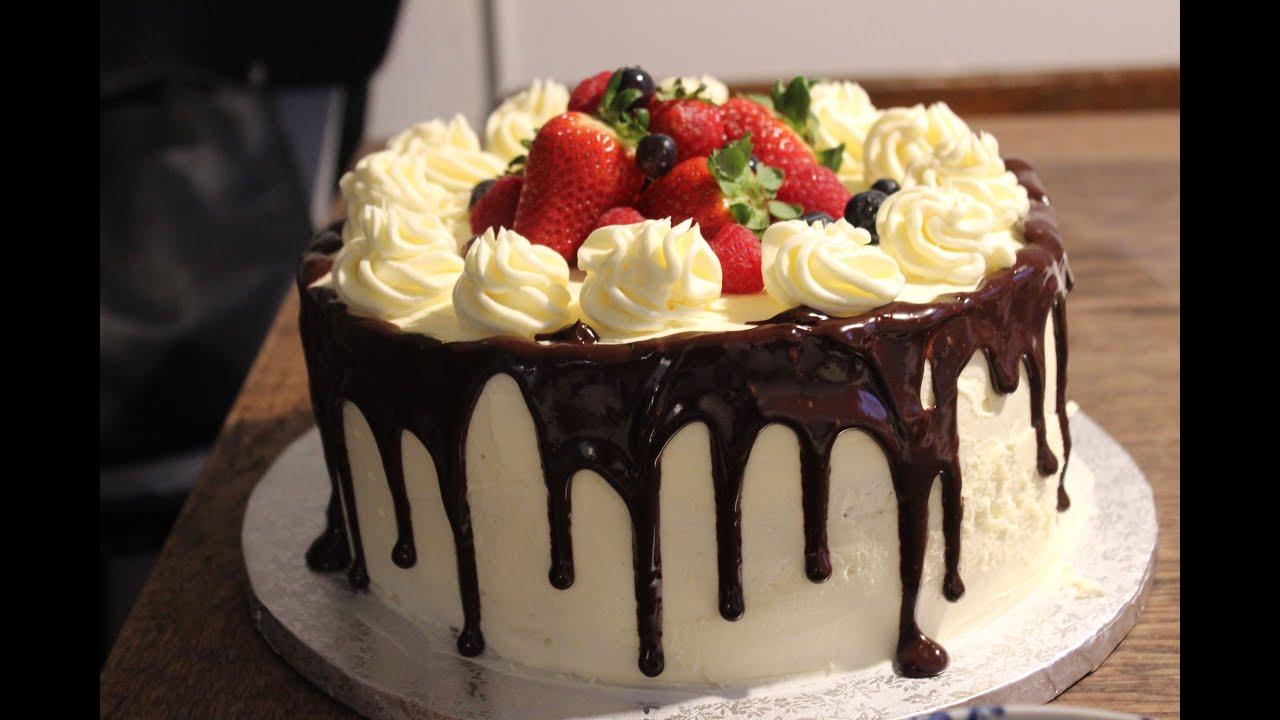 Chocolate Dripping Cake Ganache