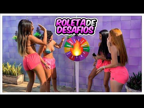 FIZEMOS UMA ROLETA DE DESAFIOS NA PISCINA!!! *COM ...