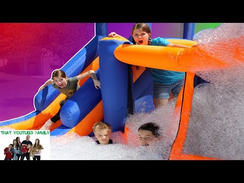 Make CRAZY OBSTACLE COURSE WITH FOAM!  / That YouTub3 Family Snapshots