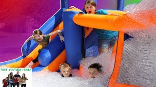 CRAZY OBSTACLE COURSE WITH FOAM!  / That YouTub3 Family