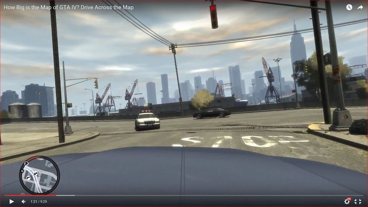How Big Is The Map In Gta Iv Drive Across The Map