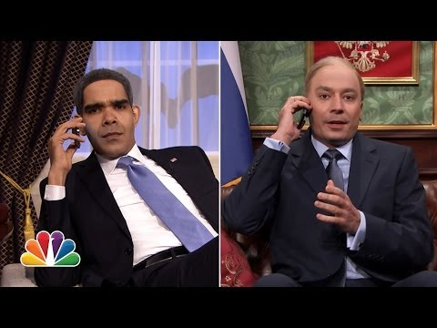 Obama & Putin Phone Conversation on Tonight Show