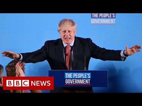 Johnson 'humbled' by support of electorate - BBC News