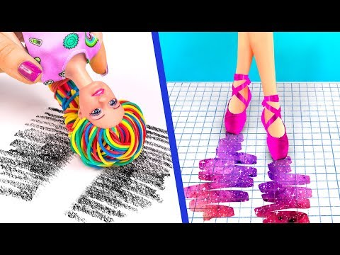 9 лайфхаков для куклы Барби / Как пронести кукол в школу - Видео онлайн