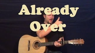 Already Over (RED) Guitar Lesson Easy Strum Chords How to Play Licks Tutorial - Capo 1