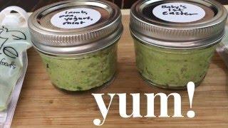 mint lamb dinner for baby - lamb, minted peas & yogurt baby food recipe