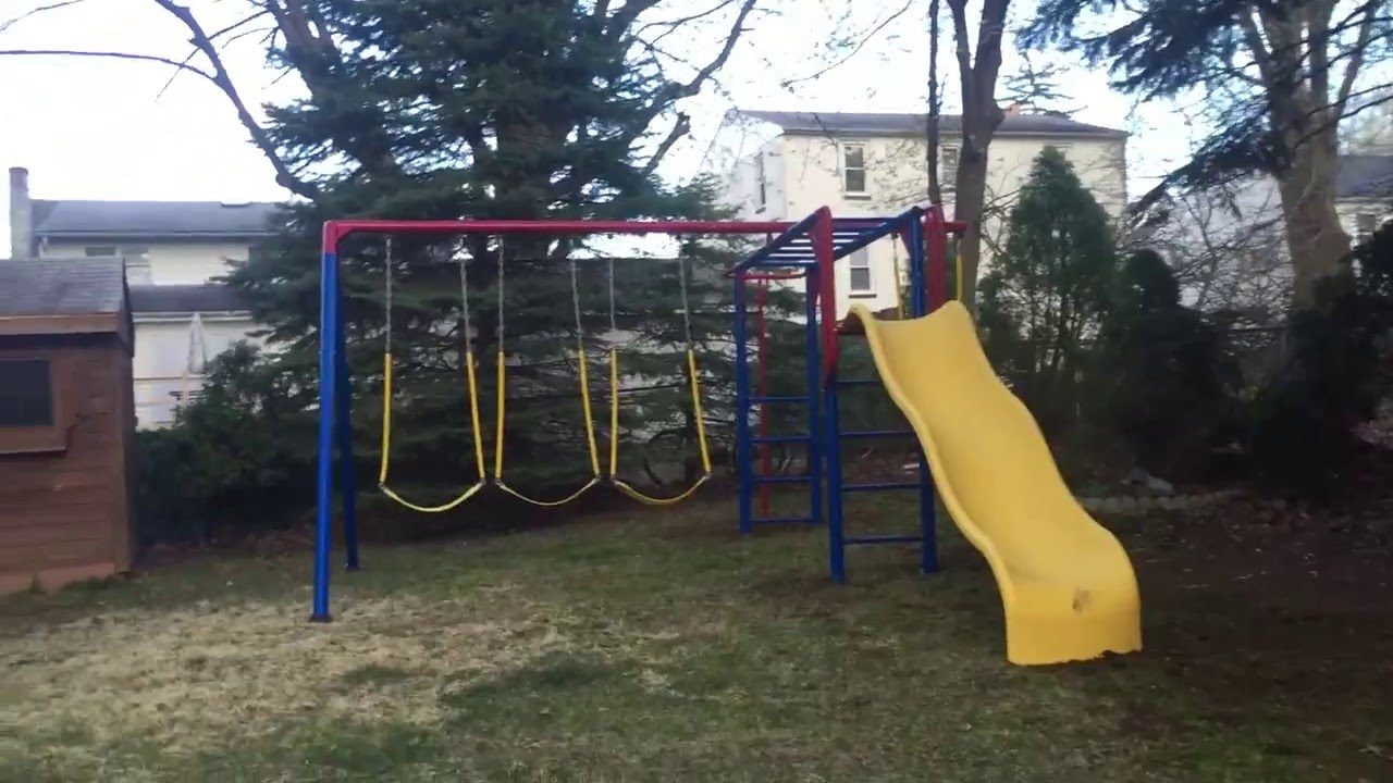 playsets playset home the double slide swing p depot deluxe lifetime set