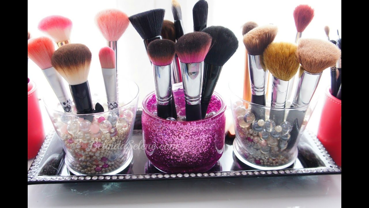 Organize your makeup brushes | ForeverSweeties - YouTube