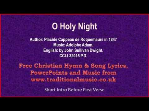 O Holy Night - Christmas Carols Lyrics & Music