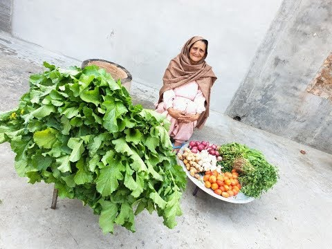 SARSON KA SAAG HALWAI STYLE | saag recipe prepared by my granny | makki ki roti | veg village food
