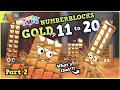 Numberblocks Learn to count by building Golden 14, 16, 19 & more!? + Special Numberblock Accessories