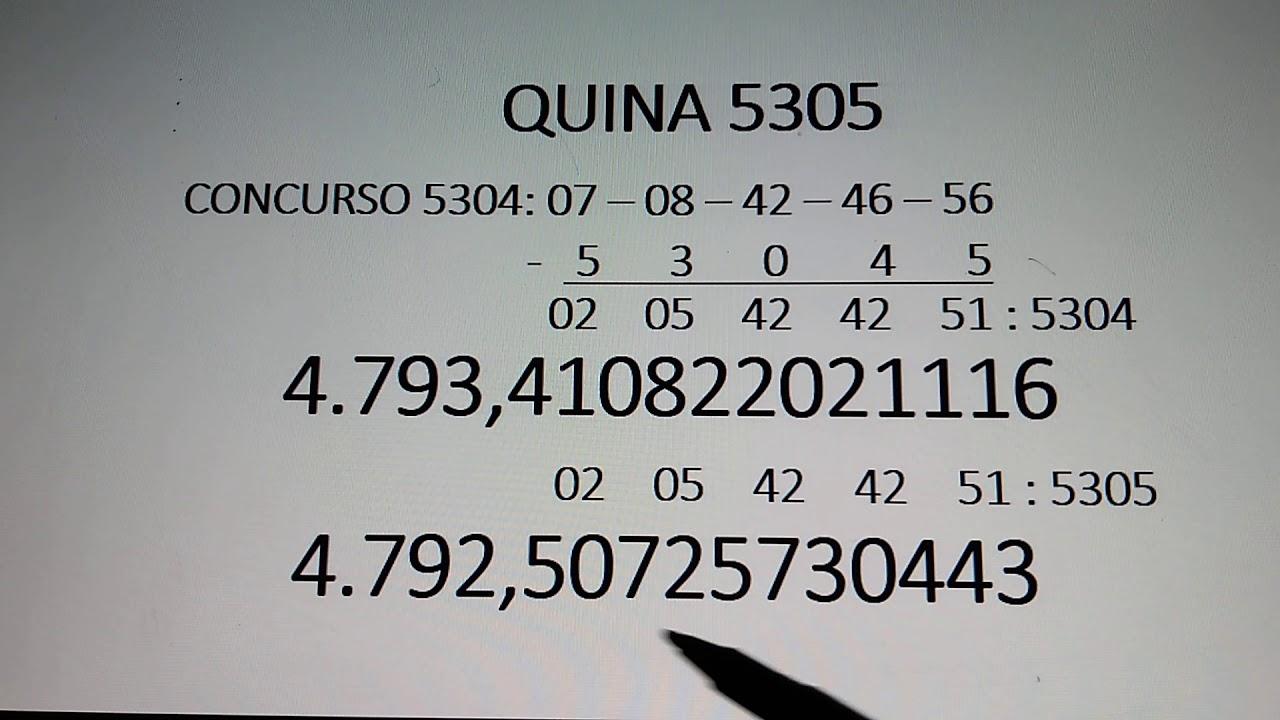 #JOGO#DA#QUINA                                             QUINA 5305