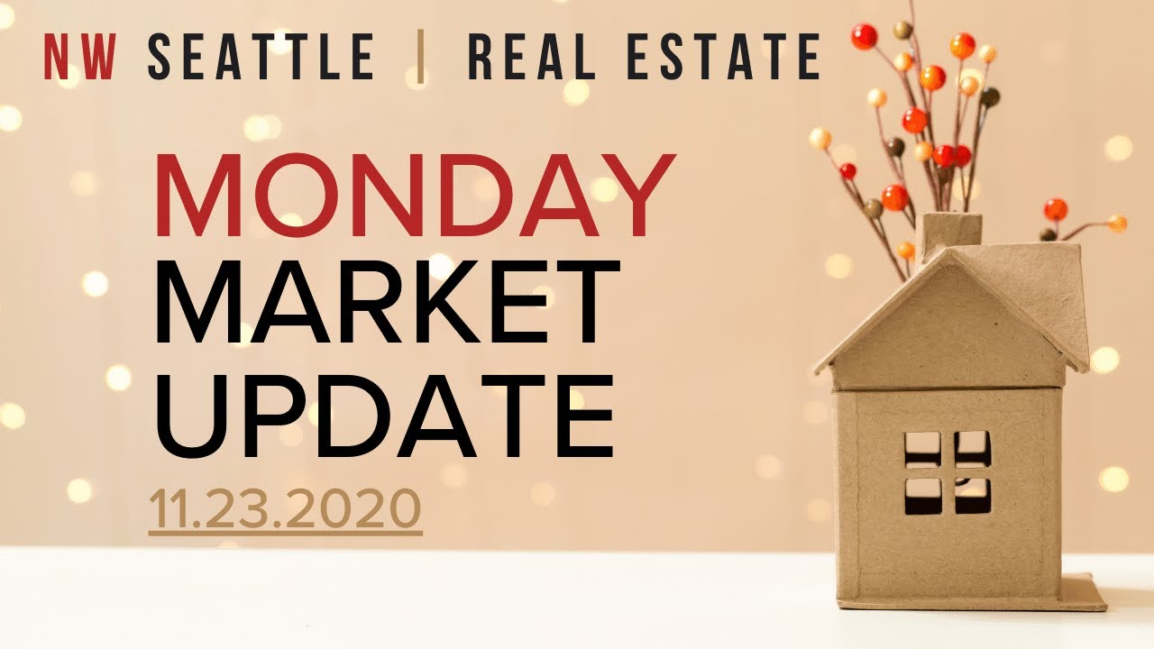 Monday NW Seattle Real Estate Market Update   November 23rd, 2020