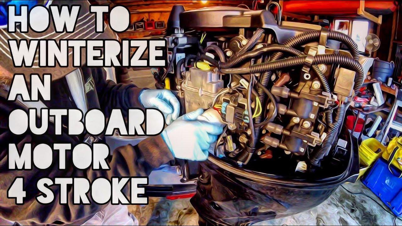 How to Winterize an Outboard Motor 4 Stroke