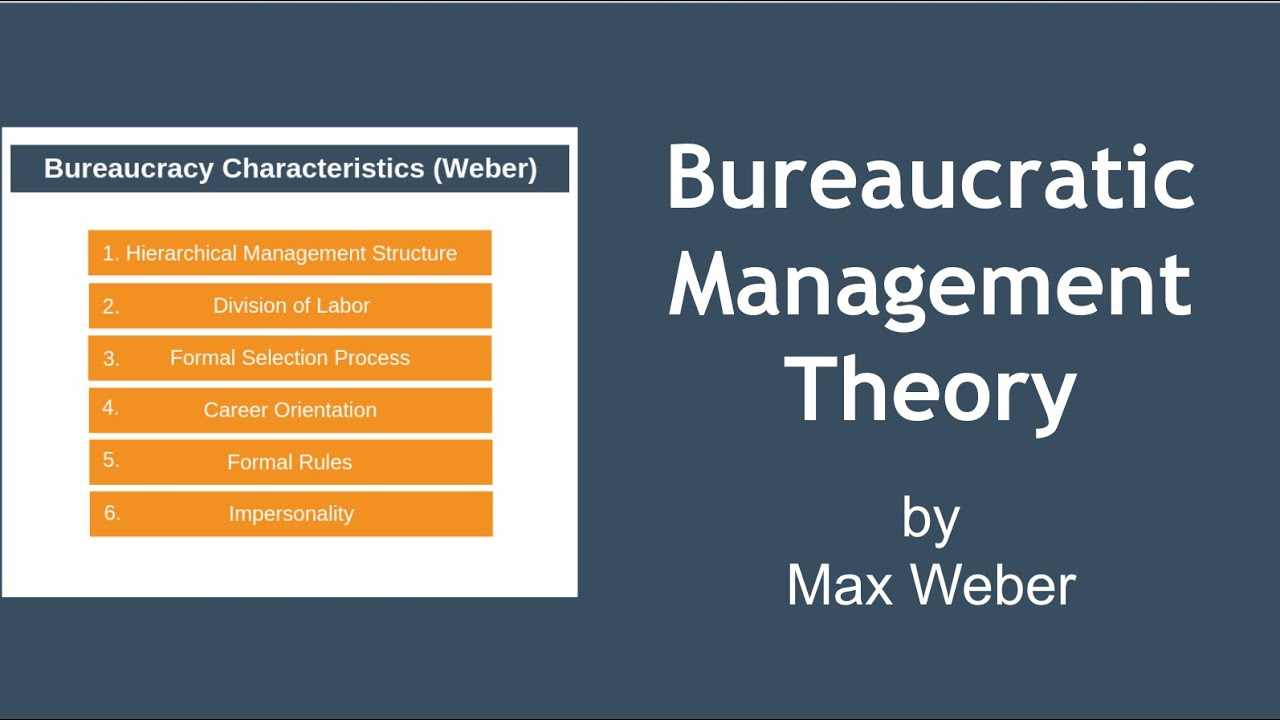bureaucratic management theory pdf