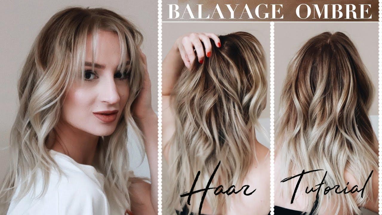 Färben selber blonde strähnen Graue Haare