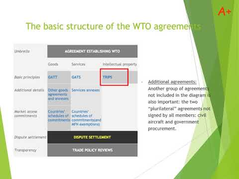 WTO - part 2: structure and main principles
