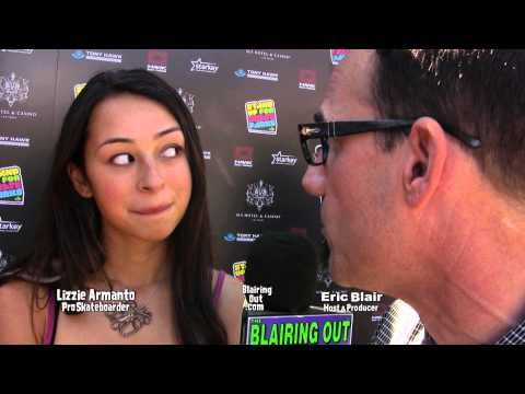 Skate Pro Lizzy Armanto talks w Eric Blair @The Tony Hawk's Stand Up For Skate Parks Benefit  2013