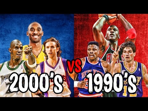 What If The 1990s TOP NBA STARS Played The 2000s Best Players?