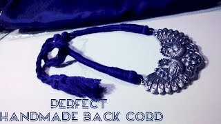 Handmade cotton thread dori for necklace|| Necklace back rope || periwinkle TV
