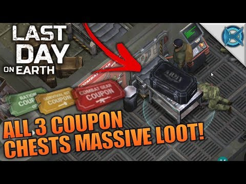 ALL 3 COUPON CHESTS MASSIVE LOOT! | Last Day on Earth: Survival | Let's Play Gameplay | S02E29