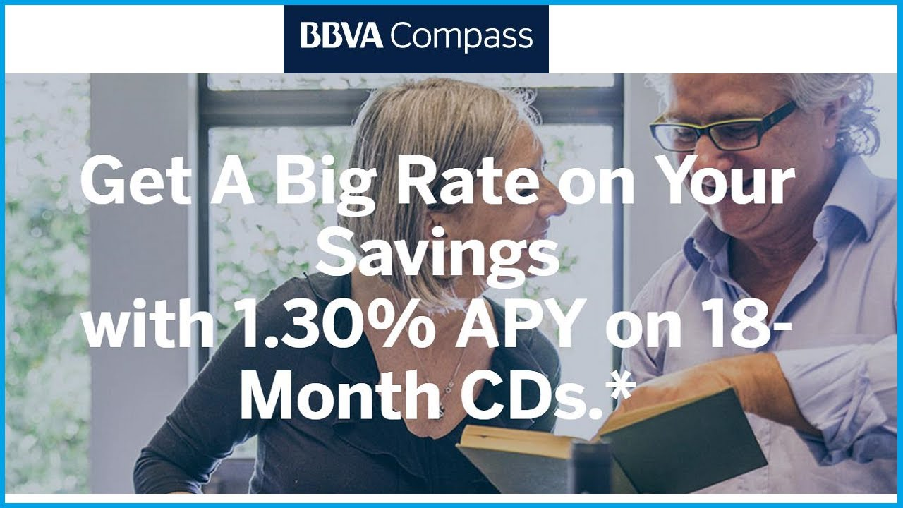 Higher Rates On Bbva Compass Cds Certificates Of Deposit Youtube
