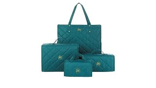 JOY 4piece Quilted Better Beauty Case Set w/RFID Big Sho...