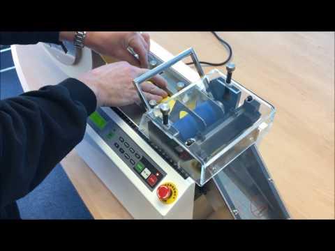 HilCut-100 Demo Video Automatic Cutting Machine For Heat Shrink
