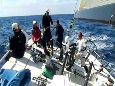 """2007 Rolex Sydney Hobart Yacht Race.  Race winning """"Rosebud"""" On_Board exclusive footage"""
