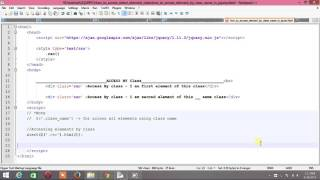 how to access html element by css class via jquery